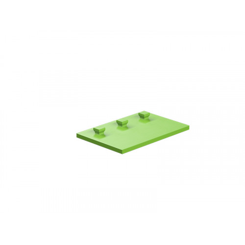 Building plate 30x45 green