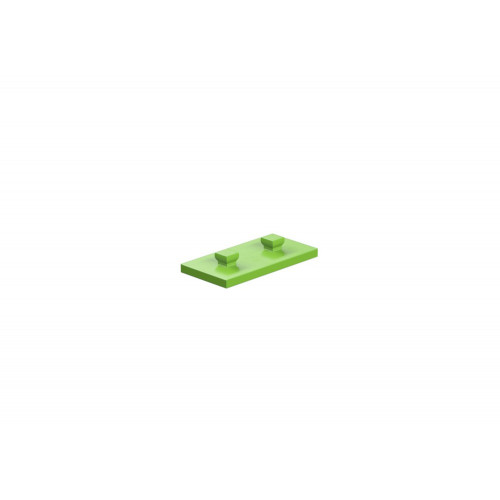 Base Plate With Peg  15X30 Green