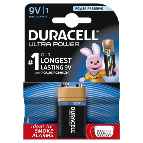 Duracell 9v  Ultra Power mit Power Reserve